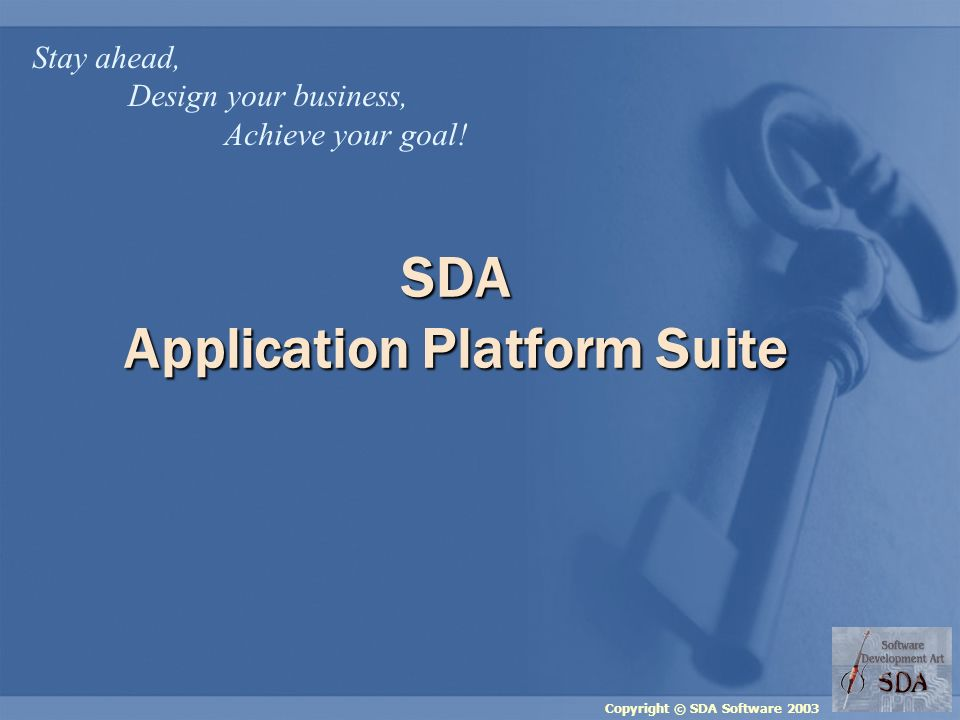 Copyright © SDA Software 2003 SDA Industry Expertise Pre-press Publishing Manufacturing Retail Financial