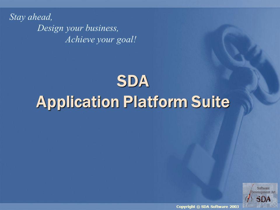 Copyright © SDA Software 2003 SDA APS WHY DO WE PROPOSE IT?