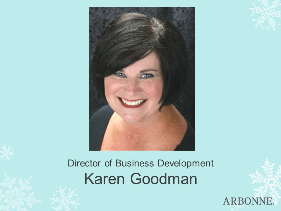 Director of Business Development Karen Goodman
