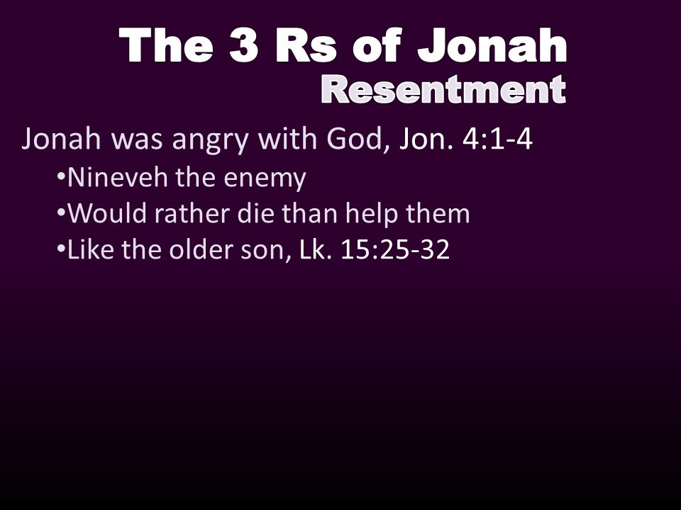 Jonah was angry with God, Jon.