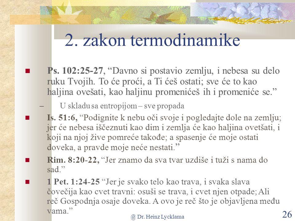 @ Dr. Heinz Lycklama 26 2. zakon termodinamike Ps.