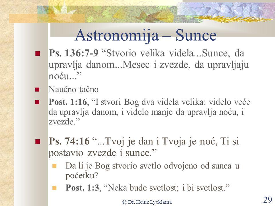 @ Dr. Heinz Lycklama 29 Astronomija – Sunce Ps.