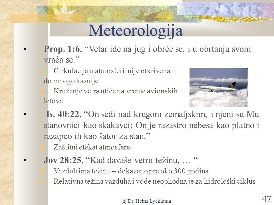 @ Dr. Heinz Lycklama 47 Meteorologija Prop.
