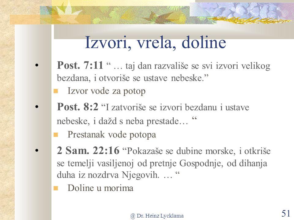 @ Dr. Heinz Lycklama 51 Izvori, vrela, doline Post.
