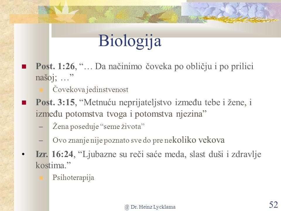 @ Dr. Heinz Lycklama 52 Biologija Post.