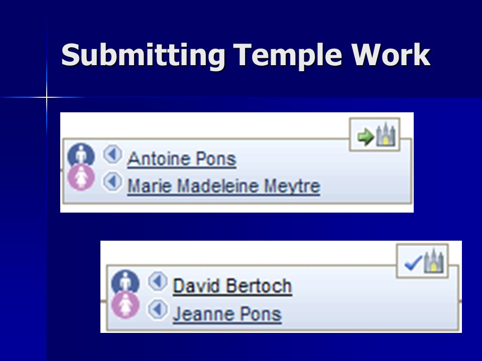 Submitting Temple Work
