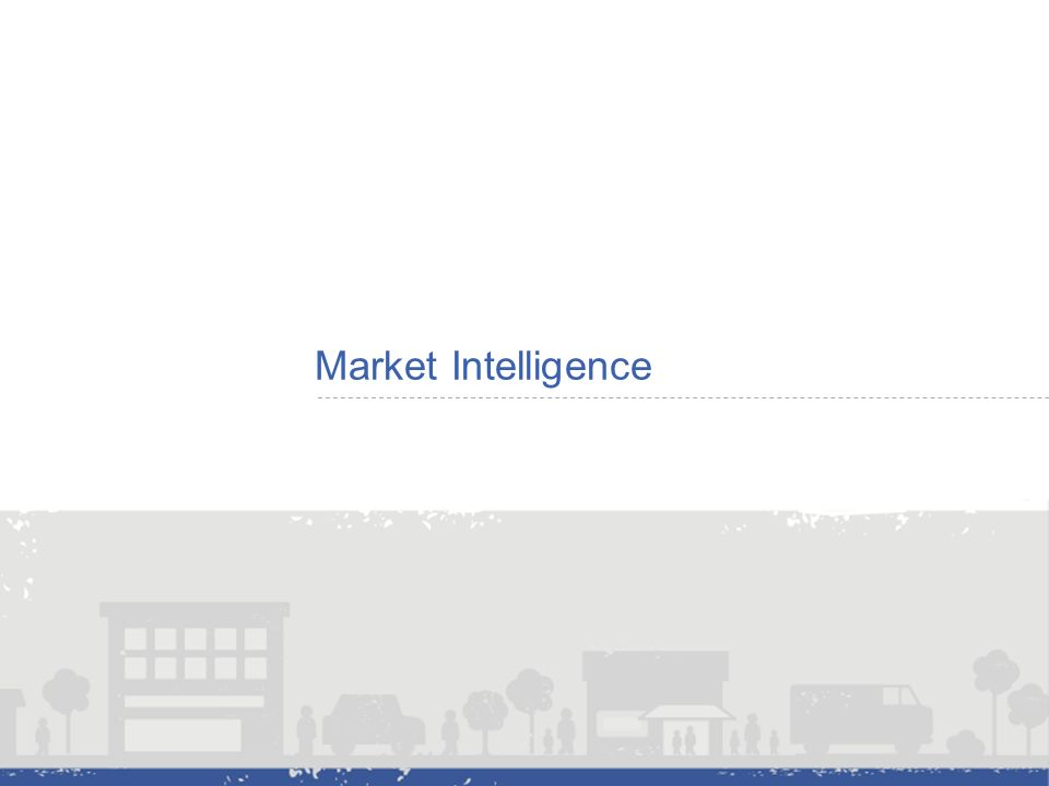 Market Intelligence