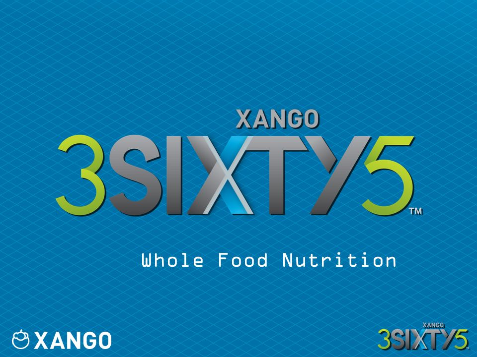 WHOLE NUTRITION Offer complete nutritional support Expand recruitment and retention channels Premium whole food formulation Easy-to-take AM/PM packaging XANGO 3SIXTY5 + XanGo ® Juice = Whole Daily Nutrition
