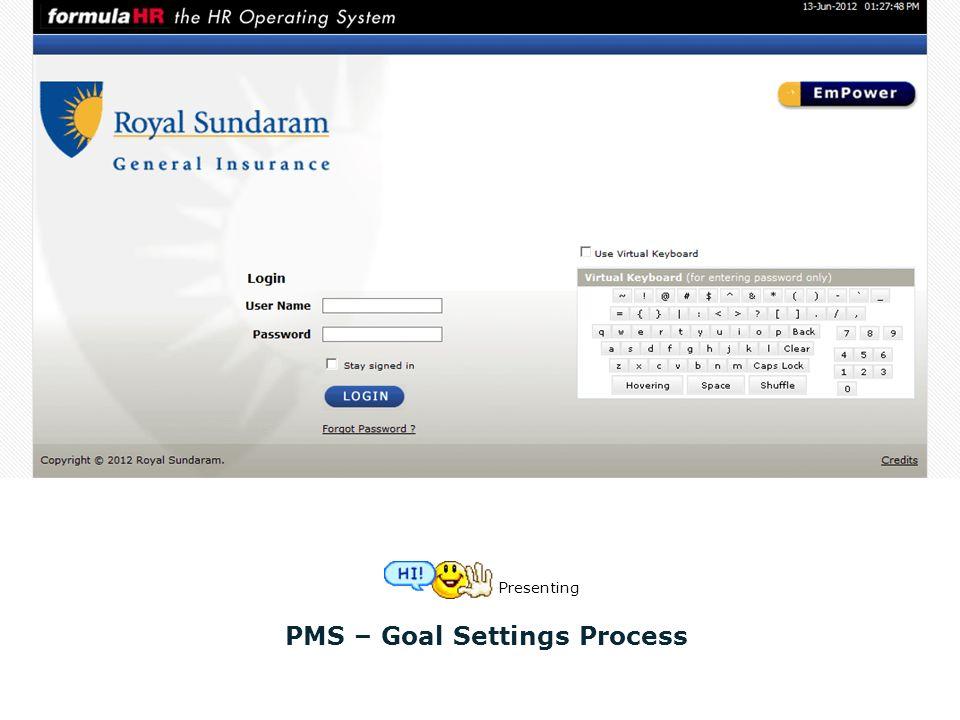 PMS – Goal Settings Process Presenting