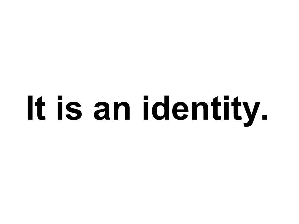It is…
