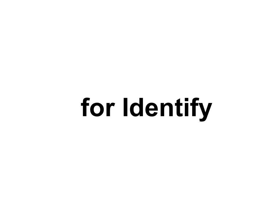 To Identify