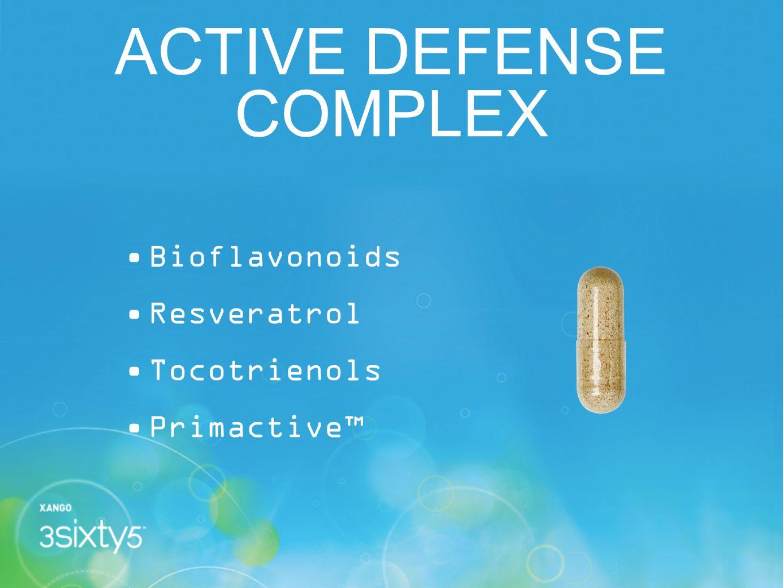 ACTIVE DEFENSE COMPLEX Bioflavonoids Resveratrol Tocotrienols Primactive