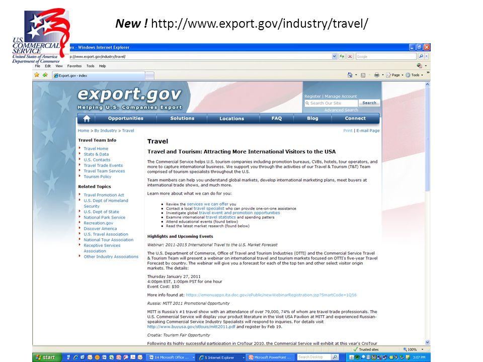 New ! http://www.export.gov/industry/travel/
