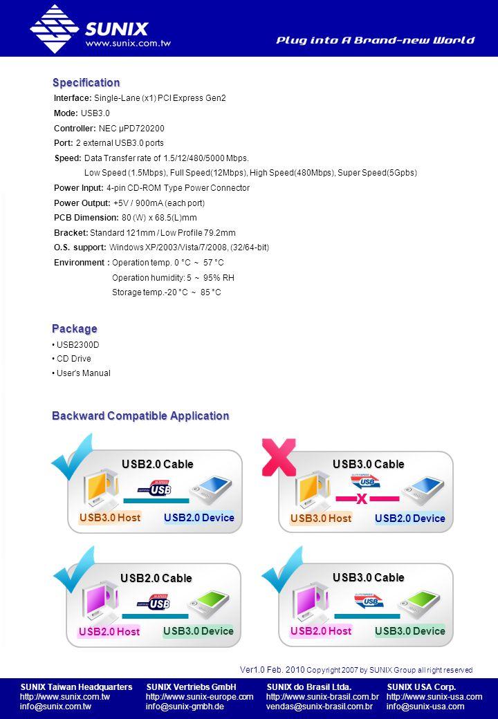 SUNIX Taiwan Headquarters http://www.sunix.com.tw info@sunix.com.tw SUNIX Vertriebs GmbH http://www.sunix-europe.com info@sunix-gmbh.de SUNIX do Brasi