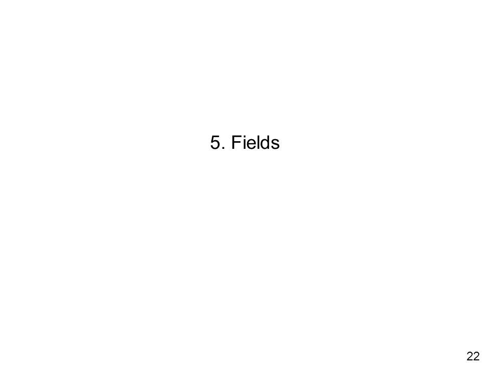 22 5. Fields