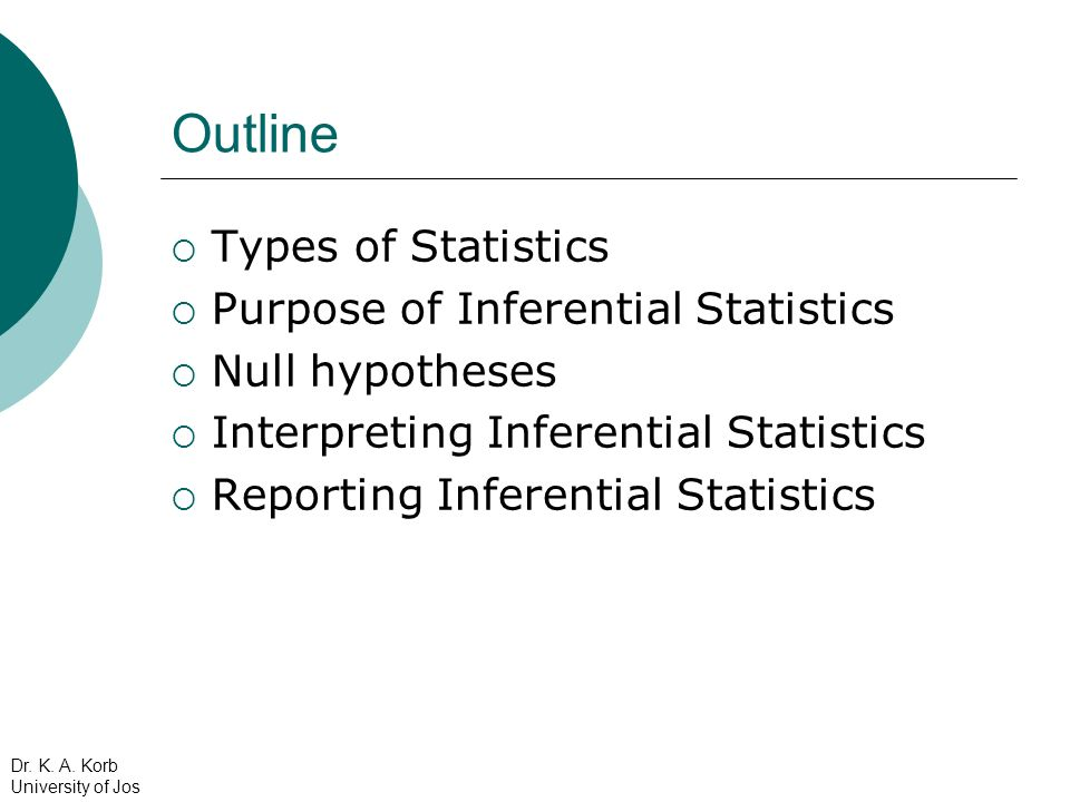 Types of Statistics Chi-Square: The purpose of a chi- square is to test whether frequency counts are distributed differently for different samples ONLY use the Chi-Square if you have categorical data (i.e.