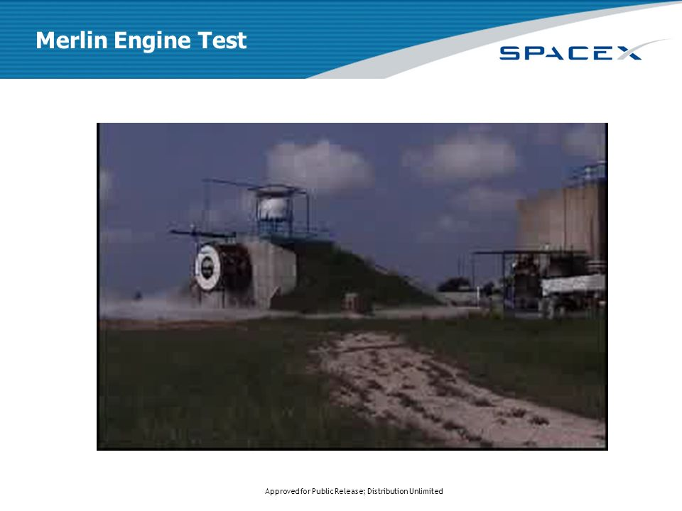 Approved for Public Release; Distribution Unlimited Merlin Engine Test
