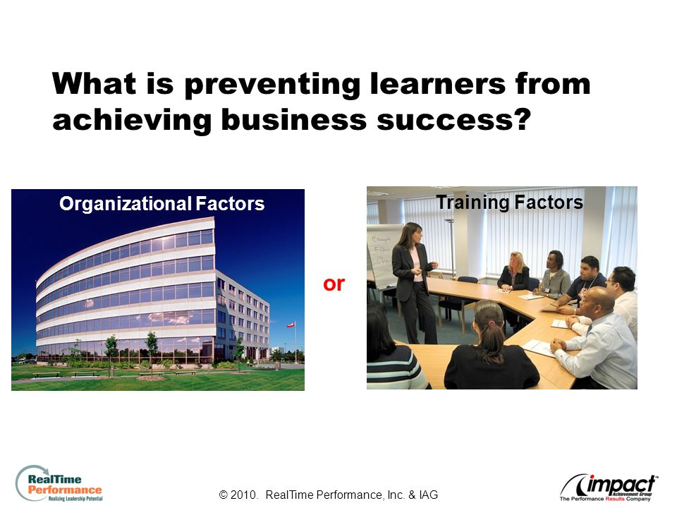 5 What is preventing learners from achieving business success.