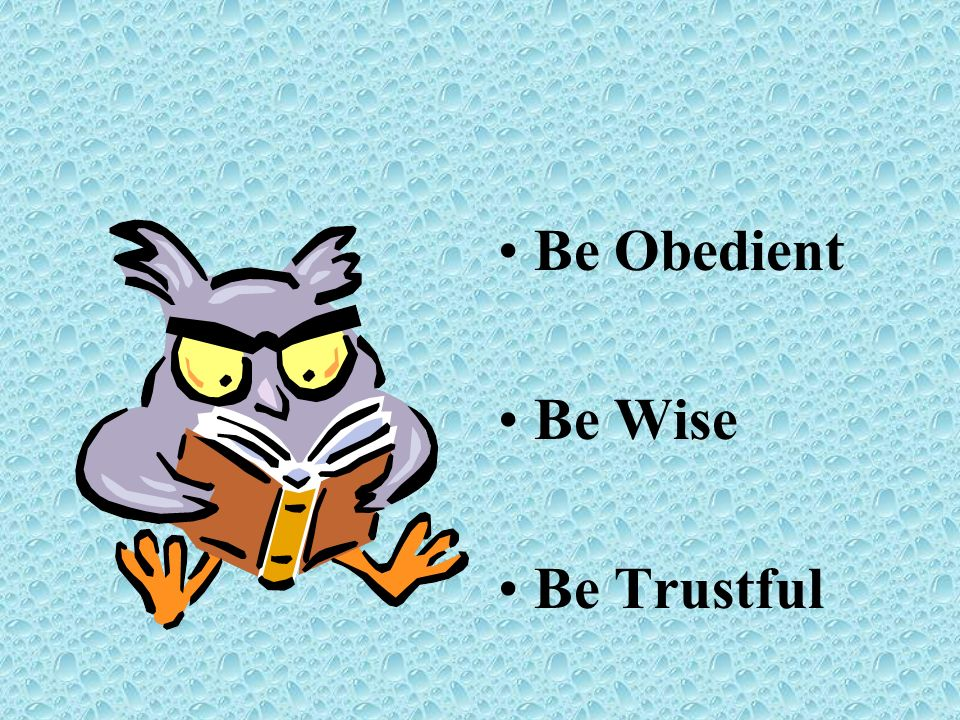 Be Obedient Be Wise Be Trustful
