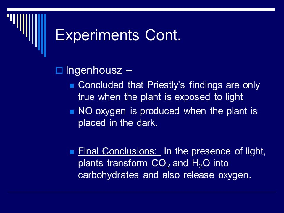 Photosynthesis Equation 6CO 2 + 6H 2 O C 6 H 12 O 6 + 6O 2 Occurs in the presence of light!