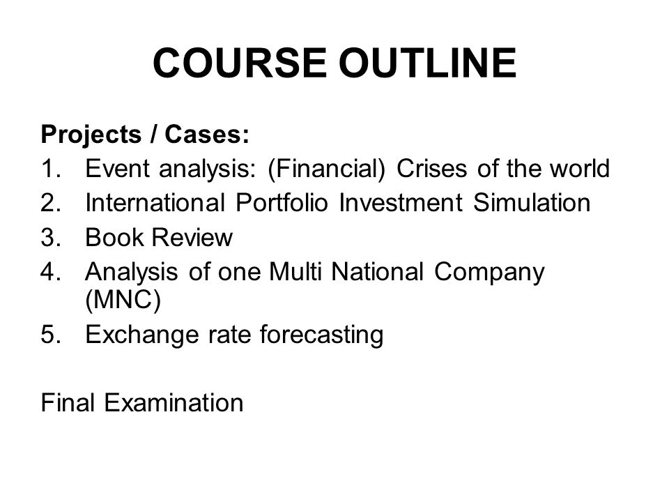 Assignment agenda January 16: Readings: Book review summaries Project/Case: Book Review: 30 minute presentation per group Investment Simulation: weekly performance report