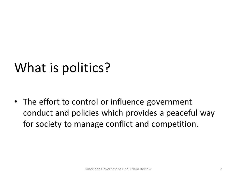 What is politics.