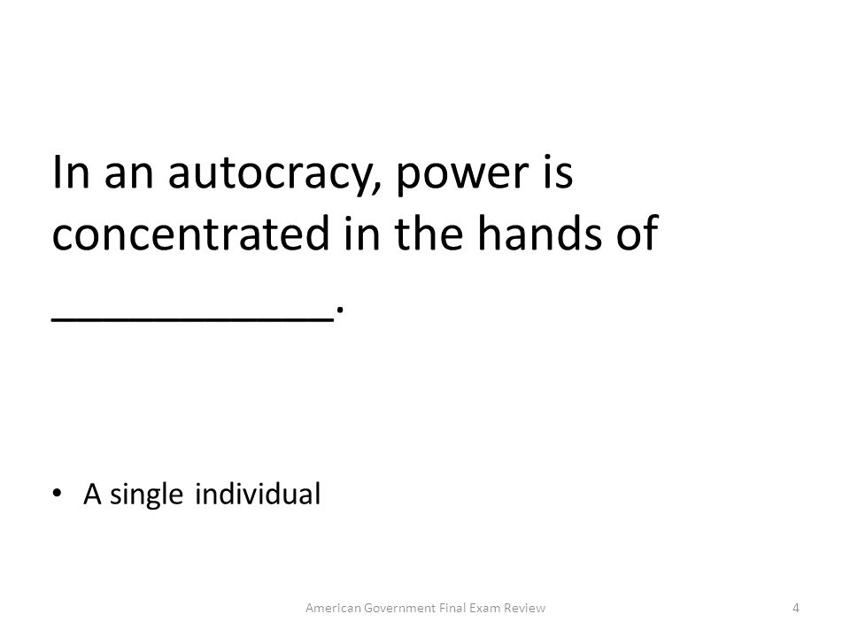 In what type of governmental structure is power shared between the various levels of government.