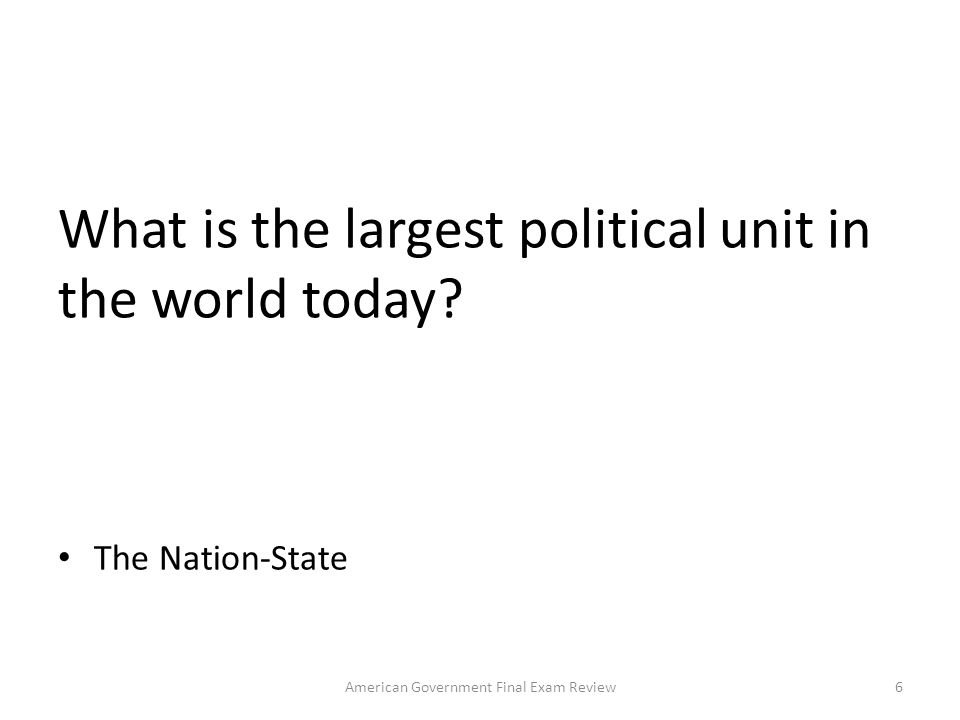 What is the institution through which a state maintains social order, provides public services and enforces the nation s laws Government 56American Government Final Exam Review