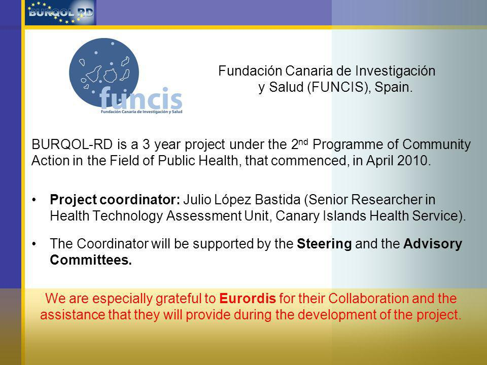BURQOL-RD is a 3 year project under the 2 nd Programme of Community Action in the Field of Public Health, that commenced, in April 2010.