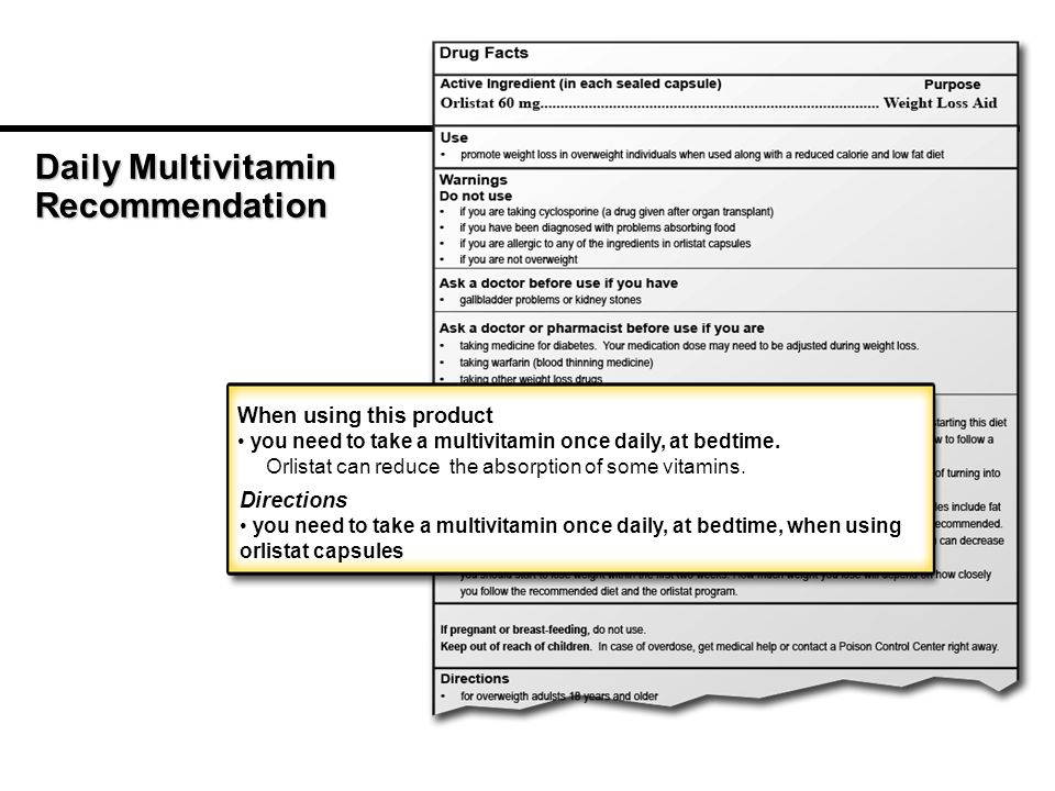 Daily Multivitamin Recommendation When using this product you need to take a multivitamin once daily, at bedtime.