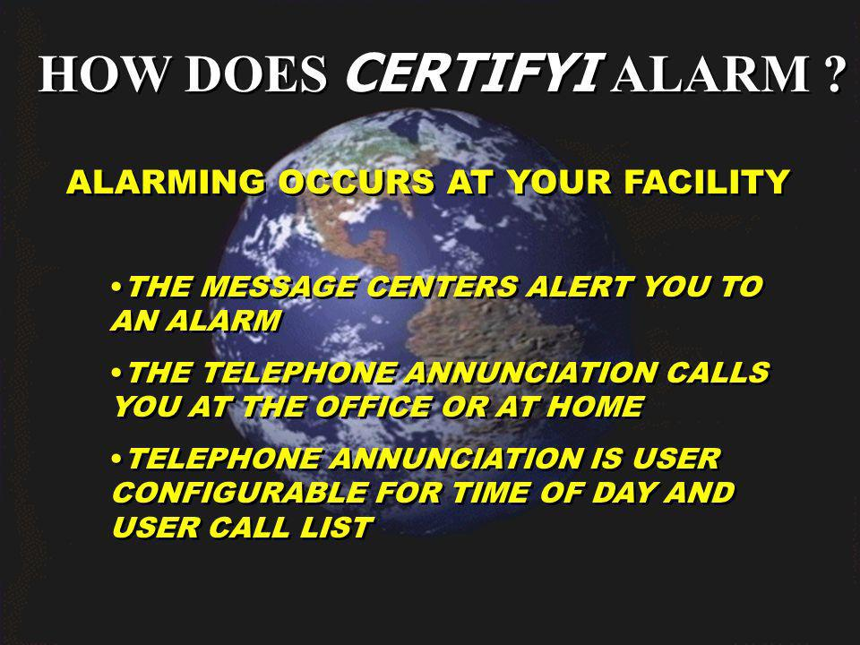 HOW DOES CERTIFYI ALARM .