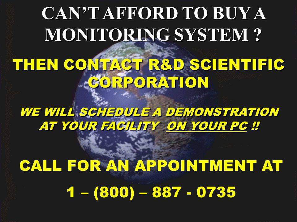 CANT AFFORD TO BUY A MONITORING SYSTEM .
