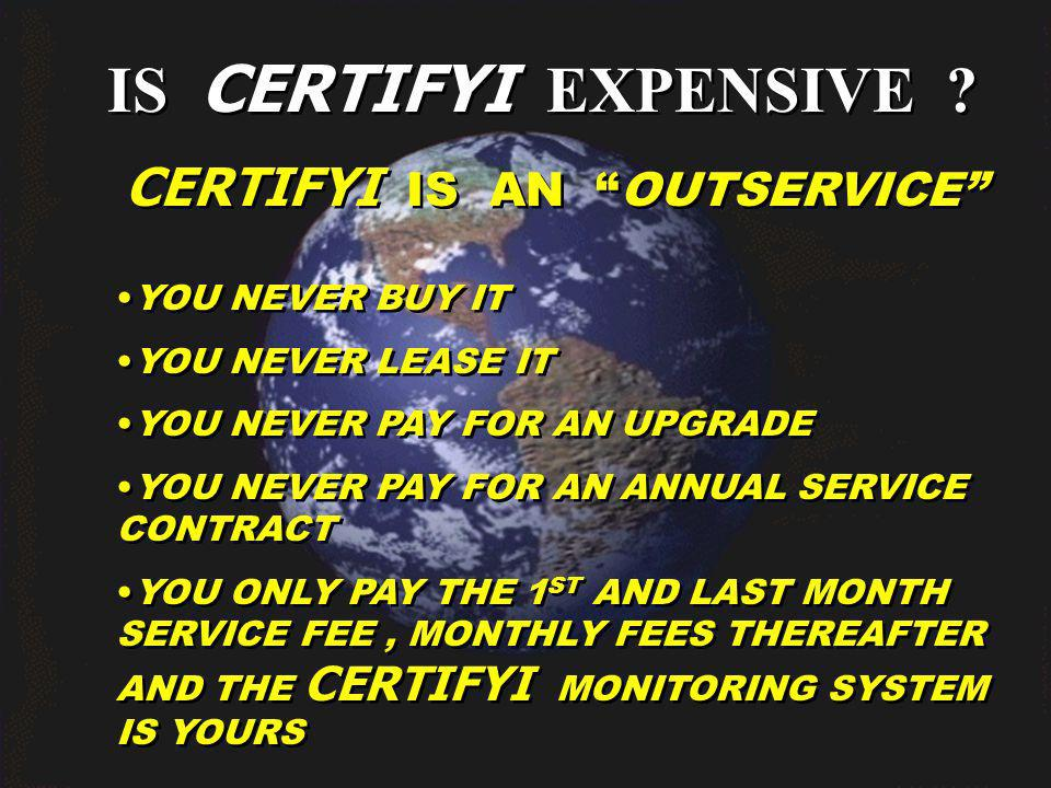 IS CERTIFYI EXPENSIVE .