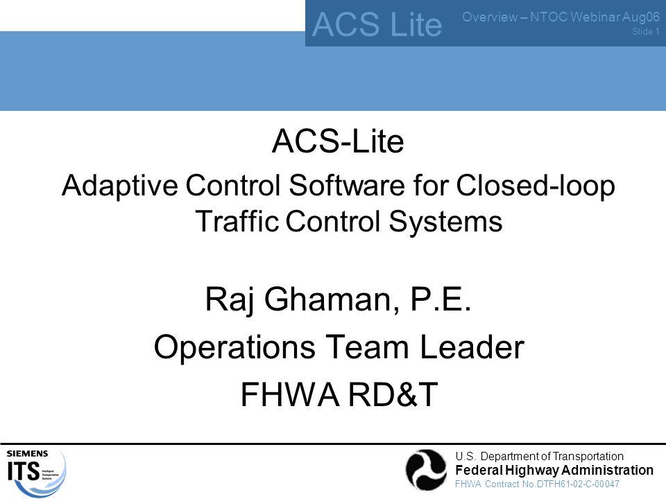 ACS Lite Overview – NTOC Webinar Aug06 U.S.