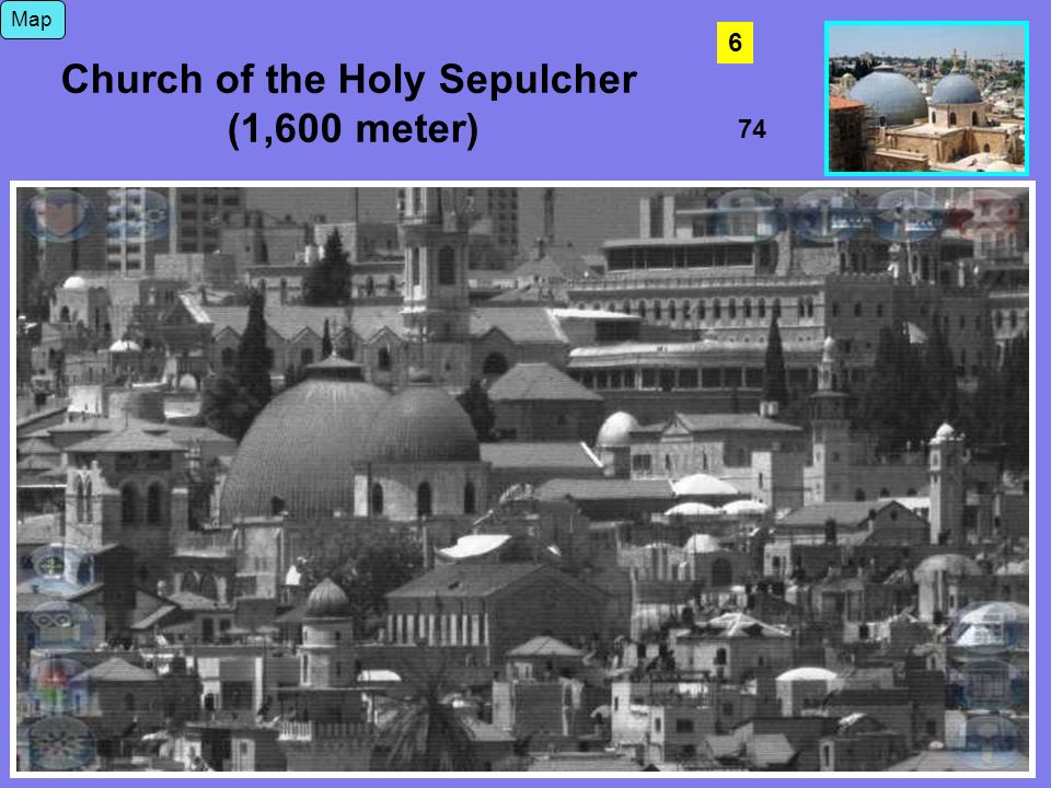 74 Map Church of the Holy Sepulcher (1,600 meter) 6