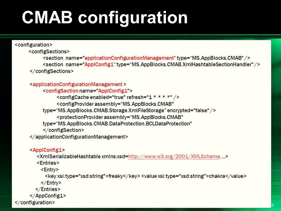.NET 2004/03/24 15 CMAB configuration http://www.w3.org/2001/XMLSchema freaky chakra