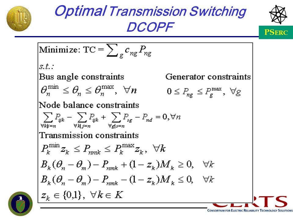 PS ERC Optimal Transmission Switching DCOPF