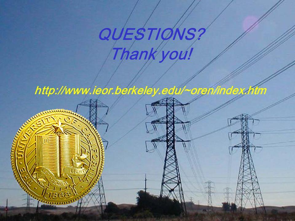 PS ERC QUESTIONS? Thank you! http://www.ieor.berkeley.edu/~oren/index.htm