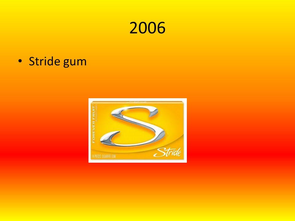 2006 Stride gum