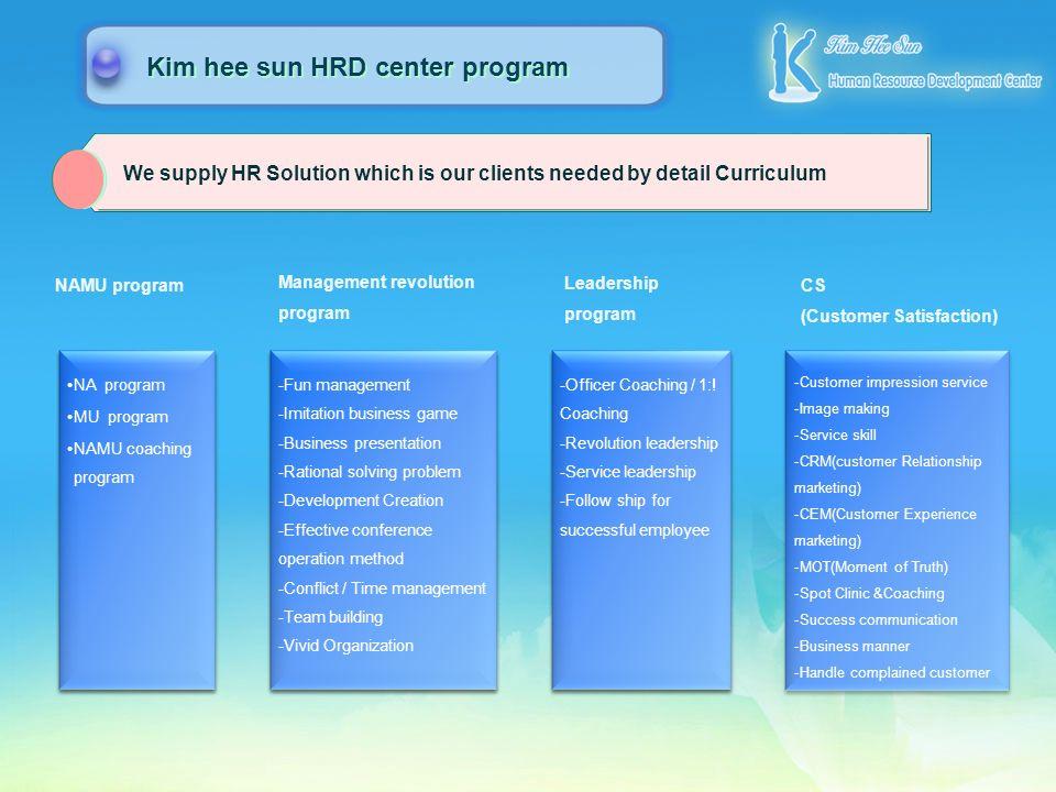 Assessment Solution Learning Solution Consulting Solution Performance Consulting Human Resources Development System Breeding Core Member System Modeli