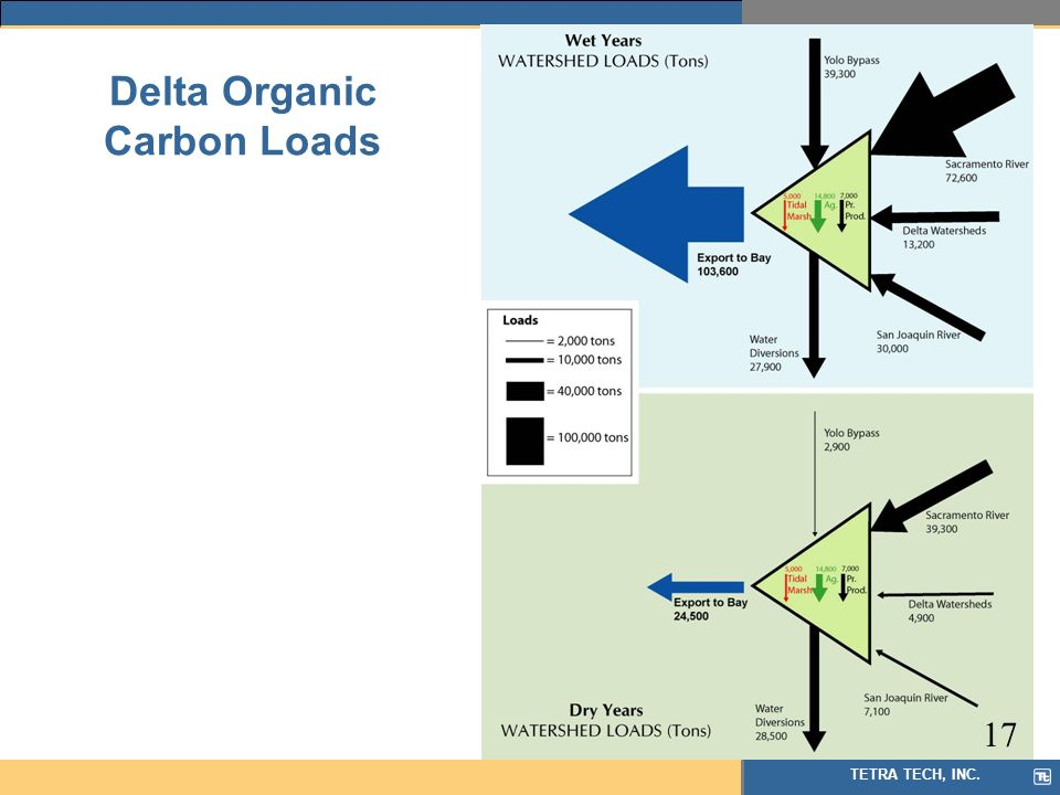 TETRA TECH, INC. Delta Organic Carbon Loads 17