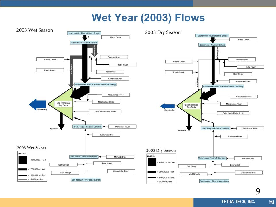 TETRA TECH, INC. Wet Year (2003) Flows 9