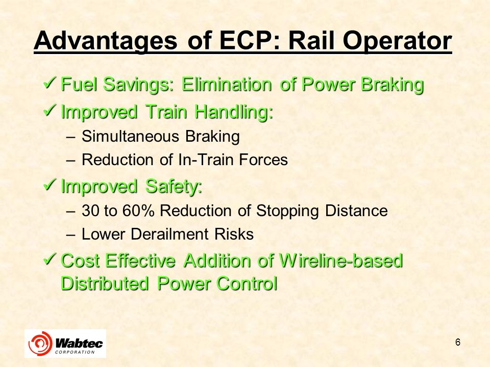 17 ECP-Only Locomotives