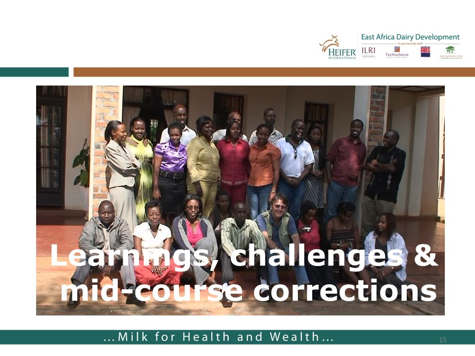 Learnings, challenges & mid-course corrections 15