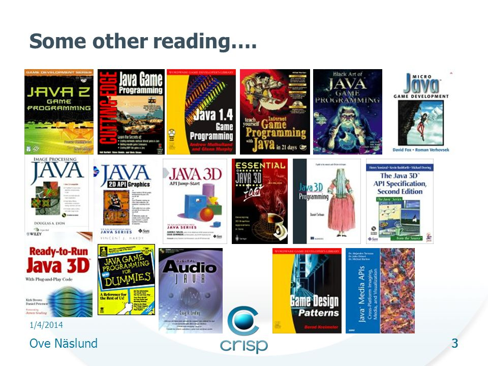 3 1/4/2014 Ove Näslund 3 Some other reading….
