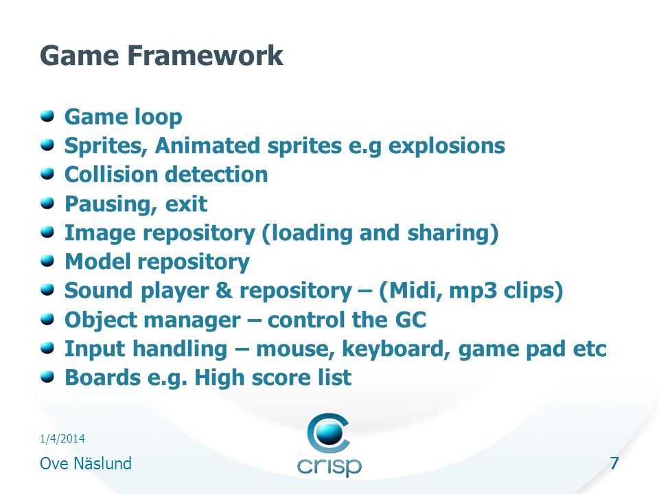 28 1/4/2014 Ove Näslund 28 Network games - issues Protocol - UDP, TCP, http, IP multicasting Game type Bandwidth, firewalls, robustness Fat client vs.