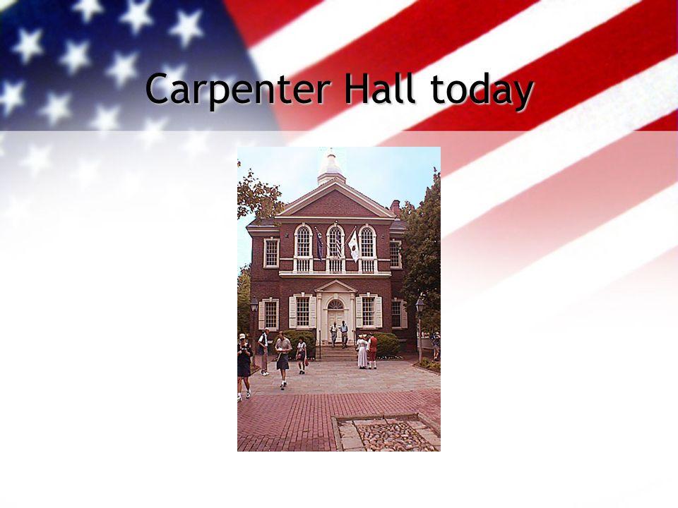 Carpenter Hall 1774