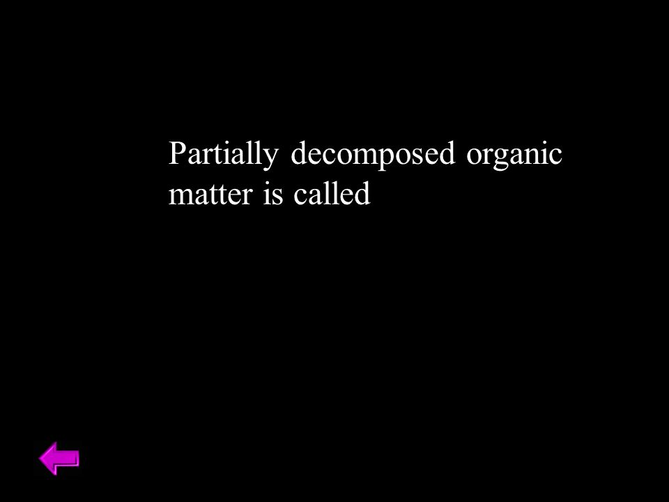 Partially decomposed organic matter is called