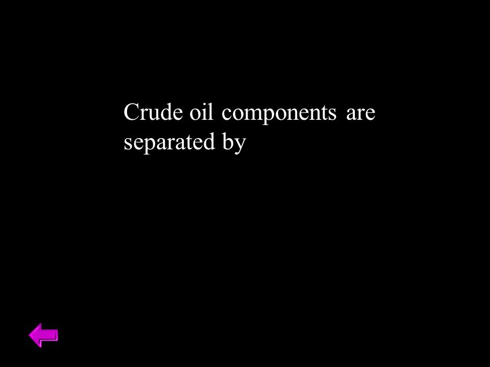 Crude oil components are separated by