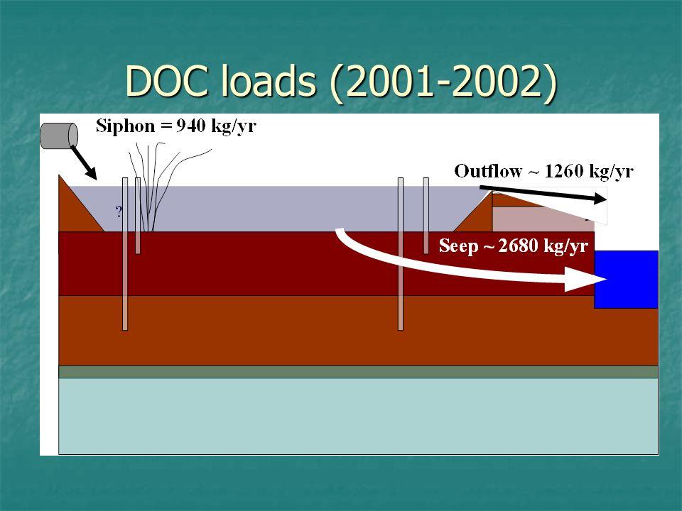 DOC loads (2001-2002)